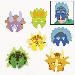 Dozen Dinosaur Mask Kid Costume Birthday Party Favor 12