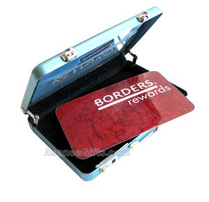 ALUMINUM BRIEFCASE BUSINESS CREDIT CARD ID HOLDER METAL WALLET CASE