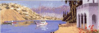 Mediterranean Harbour John Clayton Panoramas Cross Stitch Pattern