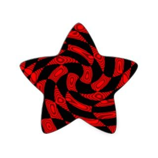 Cool red and black punk abstract star sticker