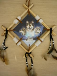 Wolf Wolves Wall Hanging Native American Interest