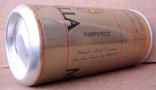 Medalla Light Cerveza 10oz Pull Tab Top Beer Can Puerto Rico USA
