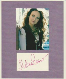 Melissa Errico Autograph Display Broadway Actress Signed Signature COA