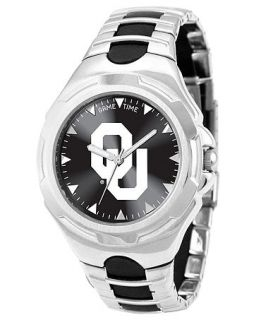 Game Time Watch, Mens Oklahoma University Black Rubber and Stainless