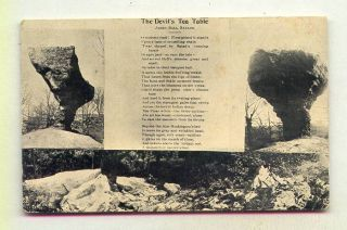 The Devils Tea Table Mcconnelsville Ohio James Paul Naylor Poem B W