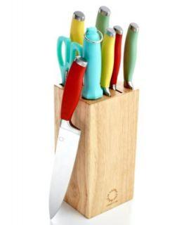 Fiesa Culery, 11 Piece Se wih Wood Block   Culery & Knives