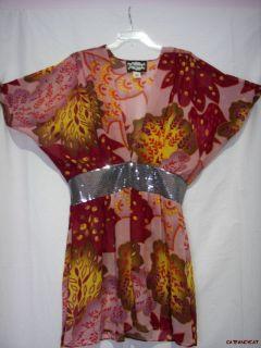 Meghan Fabulous Los Angeles Flower Tunic Dress L