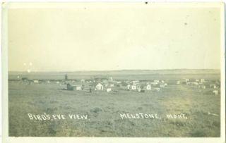 Montana Melstone Birds Eye View C 1912 RP Postcard