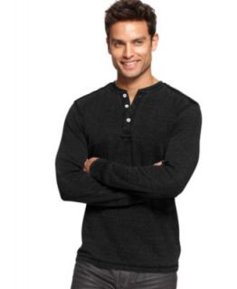 Marc Ecko Cut & Sew Shirts, Long Sleeve Burnout Thermal Henley