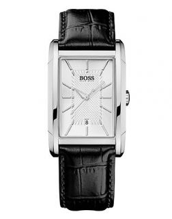 Hugo Boss Watch, Mens Black Leather Strap 1512620   All Watches