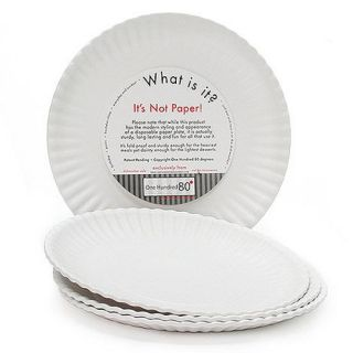 Is It  Reusable White Dinner Plate 9 inch Melamine Set of 4