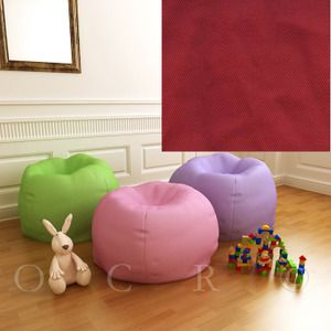 Pottery Barn Kids Anywhere Beanbag Slipcover Red Twill Oversize