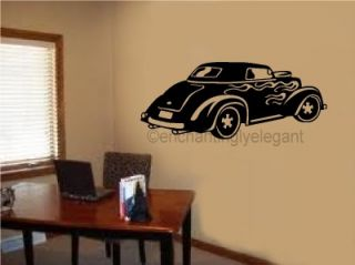 Old Fashioned Car Vinyl Decal Wall Sticker Office Shop Teen Boy Room