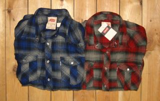 Levis $58 Mens Flannel L s Snap Button Up Shirt