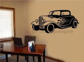 Antique Car Old Fashioned Vintage Vinyl Decal Wall Stickers Garage