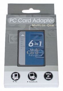 PCMCIA Adapter Card Reader SM MS MS Pro SD MMC XD