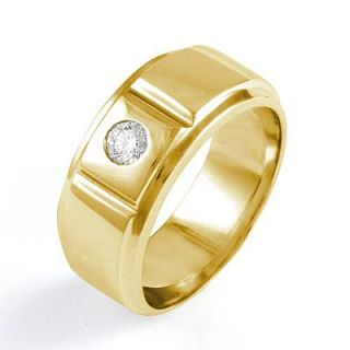 25Ct Mens Round Diamond Wedding Band Ring 14k Gold Yellow