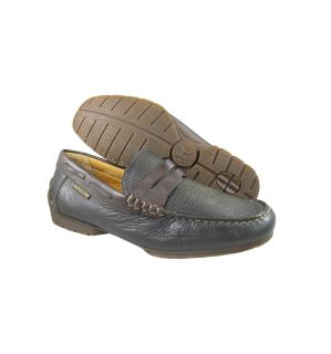 New Mephisto Mens Cool Air Dark Brown Casual Slip Ons Penny Loafers