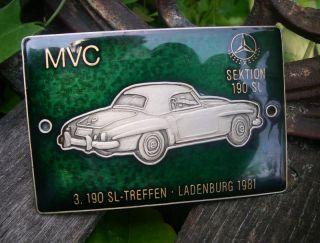 Mercedes Benz 190 SL Club Germany Meeting 1981 Badge