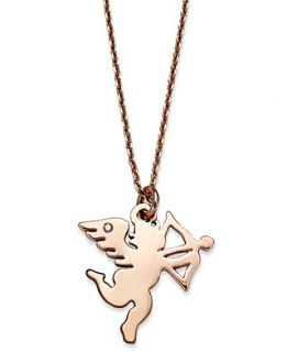 NEW Juicy Couture Necklace, Rose Gold Tone Cupid Pendant Necklace