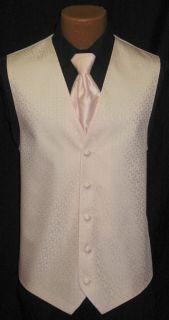 After Six Pink Melrose Fullback Vest Tie Wedding Prom