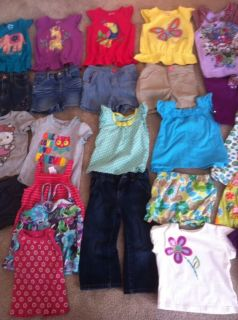 Toddler Girl 24 2T Shirts Shorts Outfit Lot