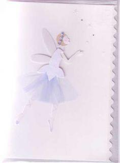 Meri Meri Fairy Birthday Cards Embellished Pink Blue Handmade 3D