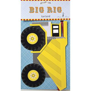 Meri Meri Boys Big Rig Party Paper Cups Plates Napkins Garland