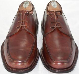 1067 Men Mercanti Fiorentini Brown Leather Dress Casual Swing Oxford