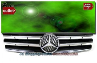 Benz 90 02 SL Class W129 R129 Front Black Grill Grille