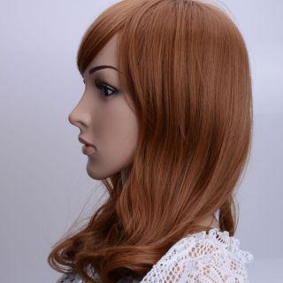 New 14 96 Ladies Side Bang Wig Medium Curly Hair JCJ 194 Carney Caron