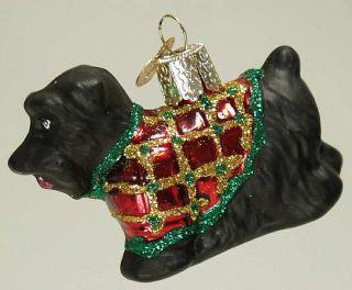 Merck Familys Xmas Ornament Black Scotty Dog 6578470
