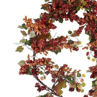 Prelit 4 Berry Garland with Timer by Valerie Parr Hill