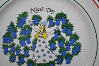 Taylorton Potteries NINTH DAY Christmas Dinner Plate Sally Merwin