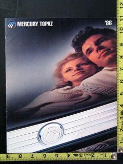 This is an original Original 1986 Ford Mercury Topaz showroom sales
