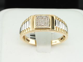 Mens 14K Yellow Gold .25 Ct. Princess Cut Diamond Engagement Ring