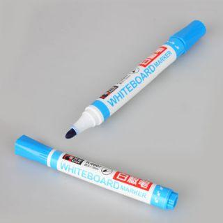 Dry Erase Permanent White Board Marker Pen Blue Office School