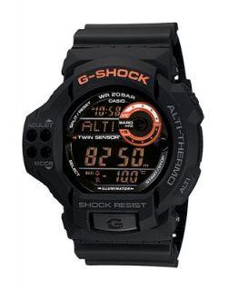 Shock Watch, Mens Black Resin Strap GDF100 1B