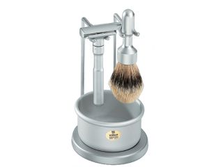 Merkur 4 Piece Shaving Gift Set Kit Brush Stand Razor