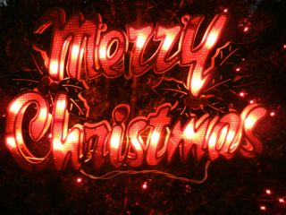 Merry Christmas Lighted Christmas Sign Indoor or Outdood Display
