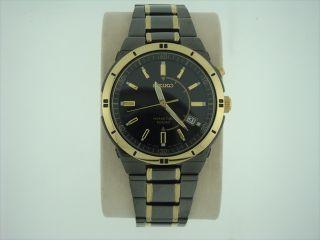 Seiko Mens Kinetic Black ion Watch SKA366
