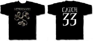 Meshuggah CD cvr Catch 33 Snakes Official Shirt Small New