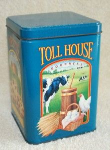 Vintage Metal Tins Collectible Nestle Toll House Cookie Tin Limited