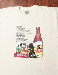 Gallo Cerveza Poem in Spanish Print Mexico Beer Brew Espanol Mens