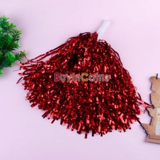 Metallic Cheerleader Cheer Dance Party Fancy Dress Costume Sports Pom