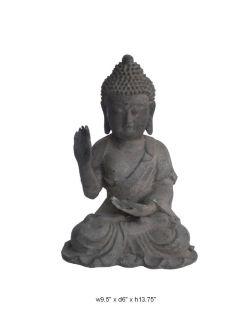 Chinese Collectable Teaching Meditating Iron Buddha Statue Figure F457