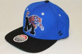 Memphis Tigers NCAA Snapback Hat Cap REFRESH Blue Black