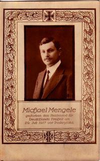 Postcard German Michael Mengele