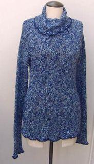 Ellemenno Blue Sweater Turtleneck XL Long Sleeve Different Shades