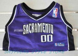 Bear Sacramento Kings Jersey Basketball Shirt Purple Top